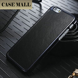 CaseMall New arrival Designer Leather Chrome Hard Back Case For iPhone 6,cheap mobile phone case