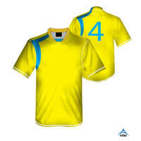 Wholesale youth yellow custom promotion soccer jerseys for men
