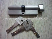 brass cylinder lock with 3pcs computer keys