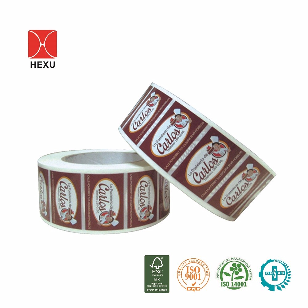 Gold foil stamping printing chocolate label for packaging