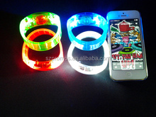 Sound Sensor or Motion Sensor Flashing Silicon Bracelet Sound Activated Led Bracelet