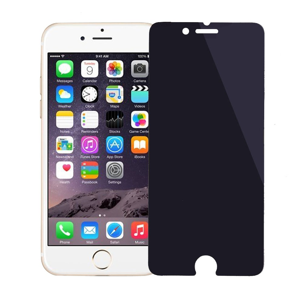 Anti-Spy Tempered Glass Screen Protector for iphone 6 , HD Toughened Protective Film with Privacy Function