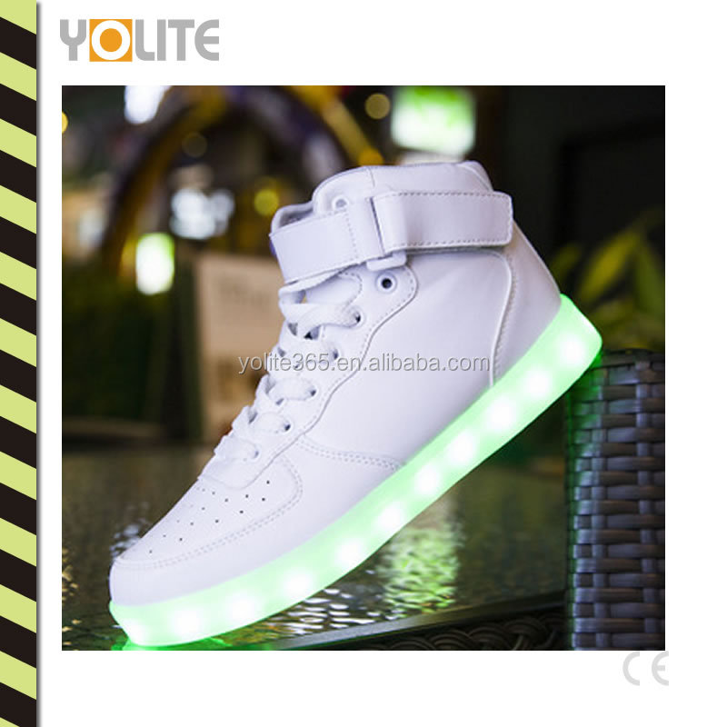 High top new fashion LED shoe young fashion shoes cool basketball shoes