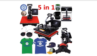 5 in 1 T-shirt, plate, cap and mug heat press printing machine