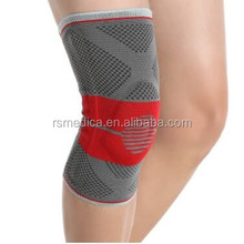 Free sample wholesale knee support brace protector high compression nylon silicon