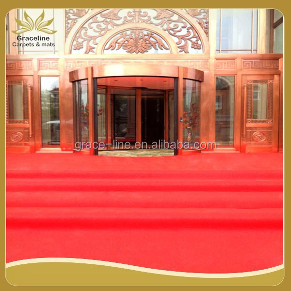 Best quality non-woven low price durable exhibition carpet