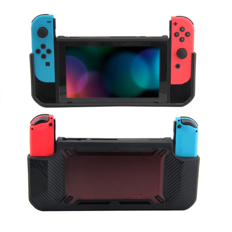 Rubber protection hard case rubber detachable grip hard shell for Switch host Cover Anti-Scratch Console protective skin