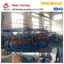 HT EPS & Rock wool colored steel sandwich sheet Roll forming machine