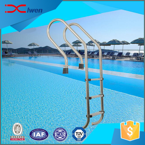 China factory OEM service stainless steel 3 steps swimming pool ladder