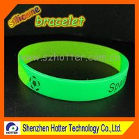 2015 high quality silicone rubber wristband glow in dark
