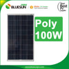 Bluesun high quality most efficient concentrated solar panels poly 100w 18v