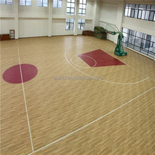 Customized professional non-slip plastic outdoor basketball court floor from china