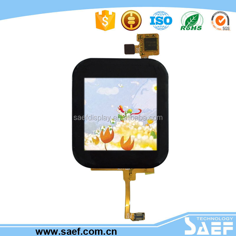 China manufacture 1.54 inch IPS wide viewing lcd module mipi interface, Transmissive TFT lcd display with CTP for industrial use