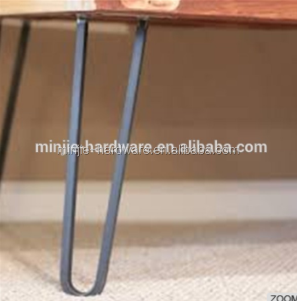 new design solid raw steel hair pin legs
