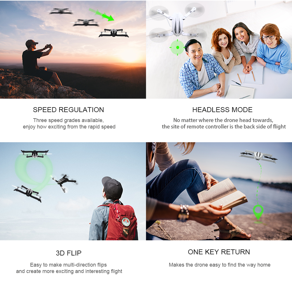 2017 Newest Drone Flytec T13S Mini Drone With 720P Wide Angle HD Camera WIFI FPV Foldable Quadcopter Selfie Drone VS JJRC H37