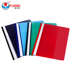 Fudek best price custom size printing office stationary PVC plastic file folder with fastener