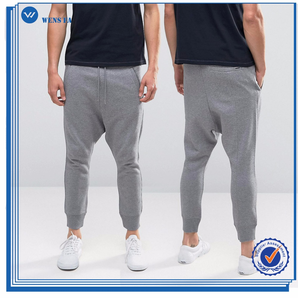 Best Quality Oem Design Slim Fit Side Pockets Drop Crotch Men Sweat Pants