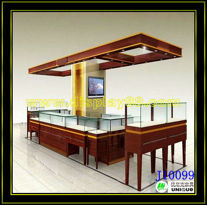 Shopping mall Jewellry kiosk designs/ jewellry showroon designs