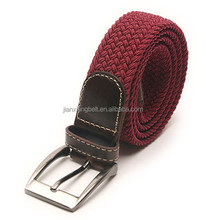 Yiwu Cheap Webbing Belts Men's Women's 35mm Cotton Fabric Braided-Elastic Belts