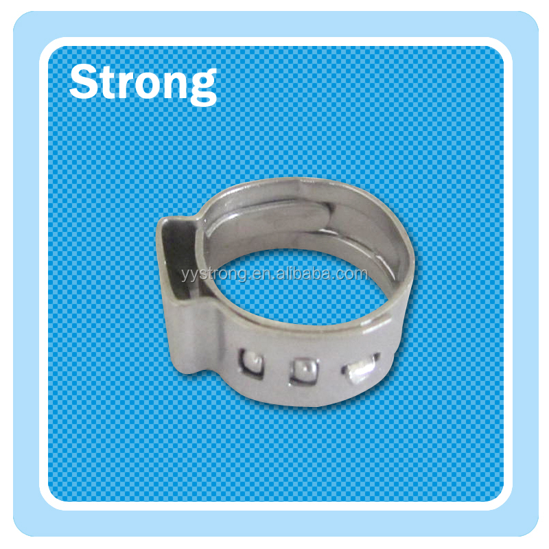 OEM Single Ear Stepless clamp tight enough single ring hose clamp for gas oil pipe