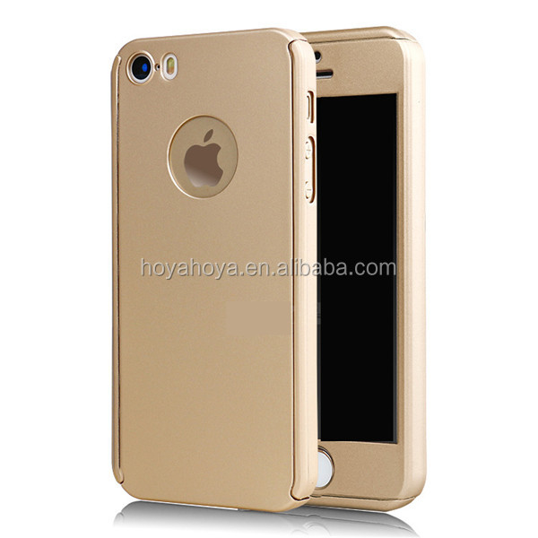 Front and Back Full Cover Protective PC Case for iPhone SE 5S