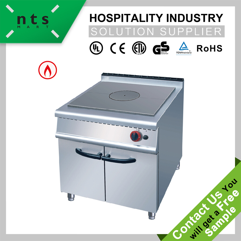 Gas Hot Plate with Cabinet for Hotel and Restaurant Kitchen Equipment