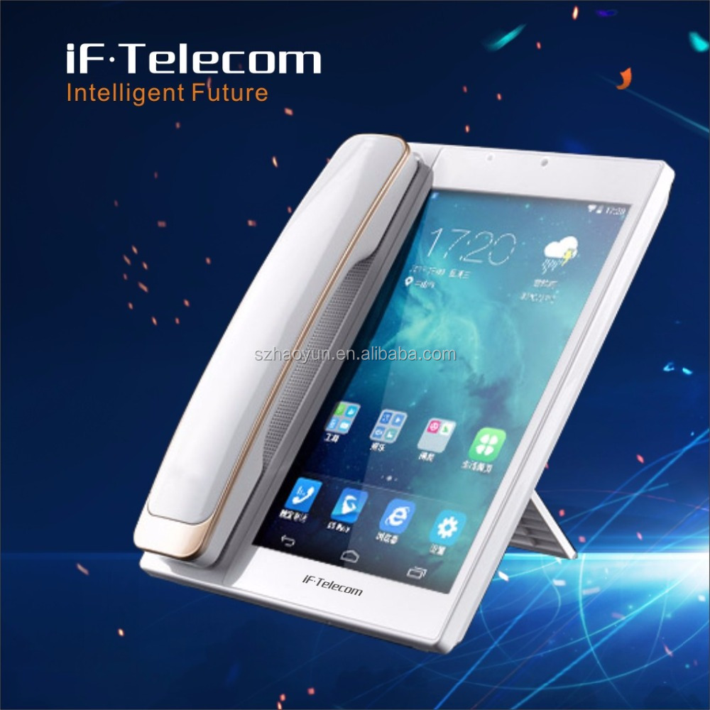 Factory New Arrival Android Smart Fixed Telephone Desktop voip Tablet Phone Supporting wifi and wcdma 3g