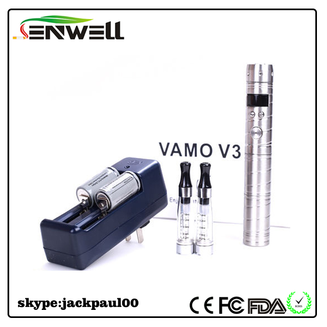Christmas Day gift choice 2013 chi you mod e cigarette vamo v3 mod can test atomizer's resistance