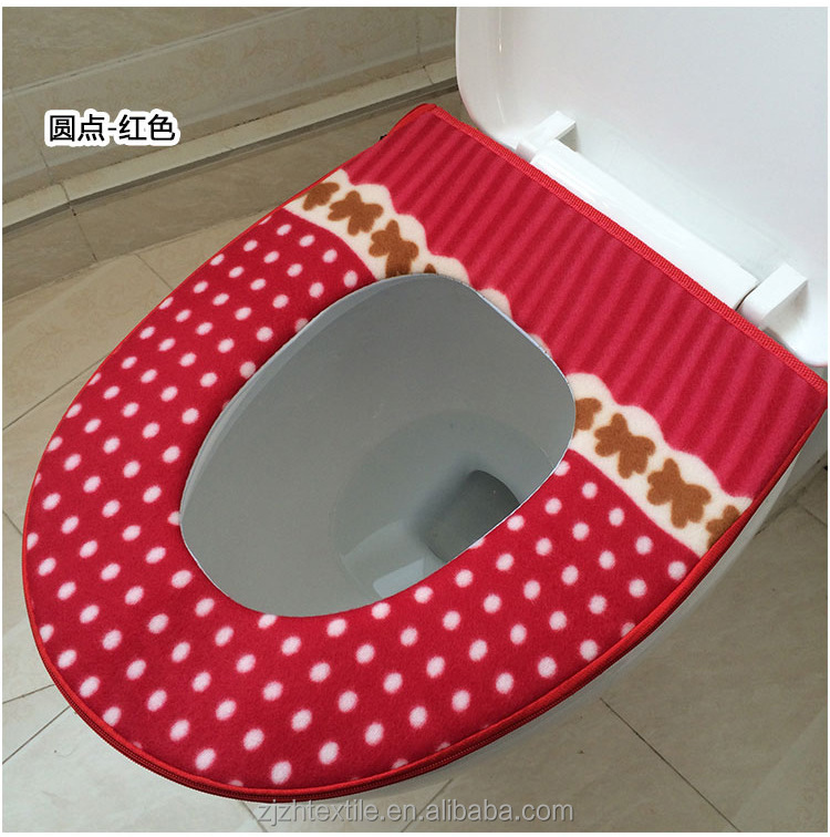 nice quality fabric toilet seat cover