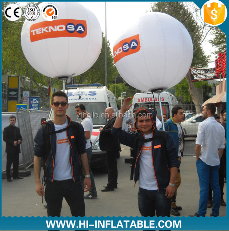 Fashionable Advertising inflatables air walkers balloons backpack ball