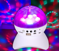 Portable Mp3 Player LED Disco Light Magic Crystal Ball Bluetooth Speaker
