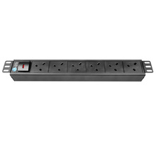 low price 6 way 19 inch UK 45 degree rack PDU socket