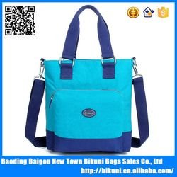 Wholesales online colorful waterproof dry shoulder bags, women nylon handbag