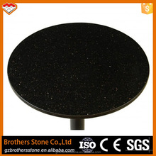 Factory price India black galaxy granite round table granite slabs for sale