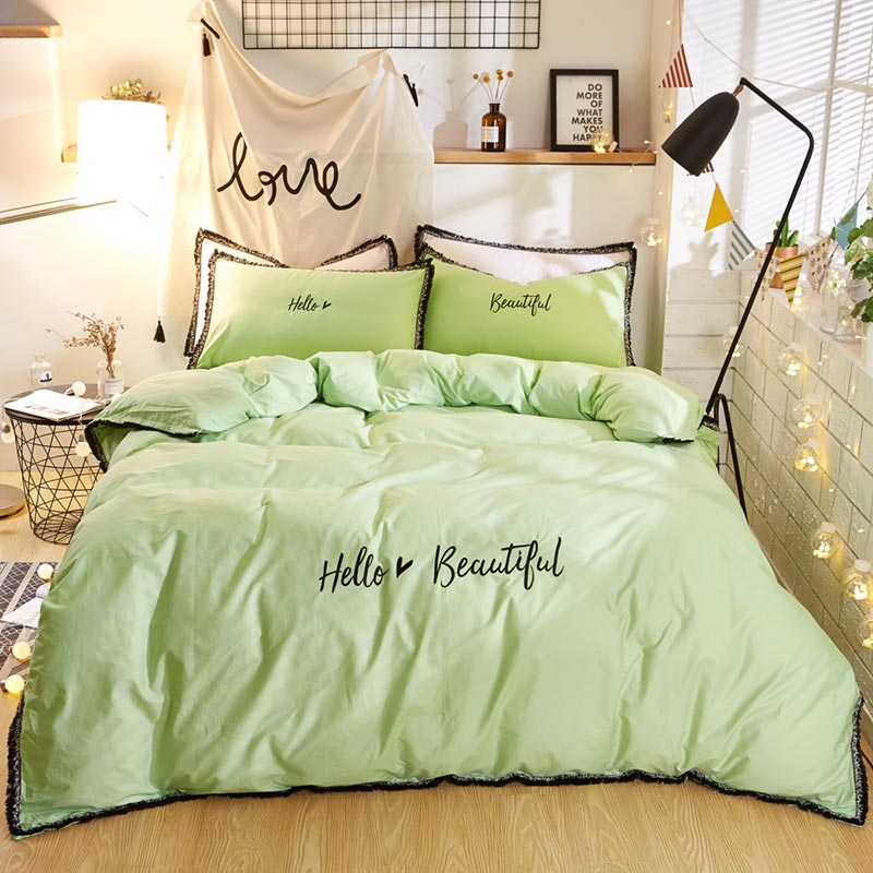 100% Cotton Fabric 4Pcs Duvet Cover Sets/ Quilt Cover/ Bed <strong>Sheet</strong> Wholesale