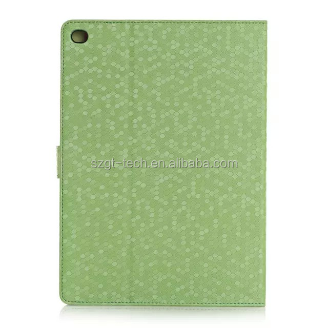 Leather case for iPad air 2 bling bling shining diamond book stand leather case