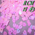 Popular Pink Heart-shape PVC Sequins