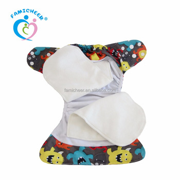 Custom Overnight Washable Suede Cloth Interior Modern AIO Cloth Diapers