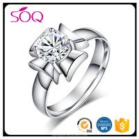 Half Eternal Wide Natural Diamonds Wedding Band 14k White Gold Ring