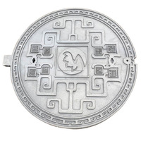 cast iron art manhole covers with lock