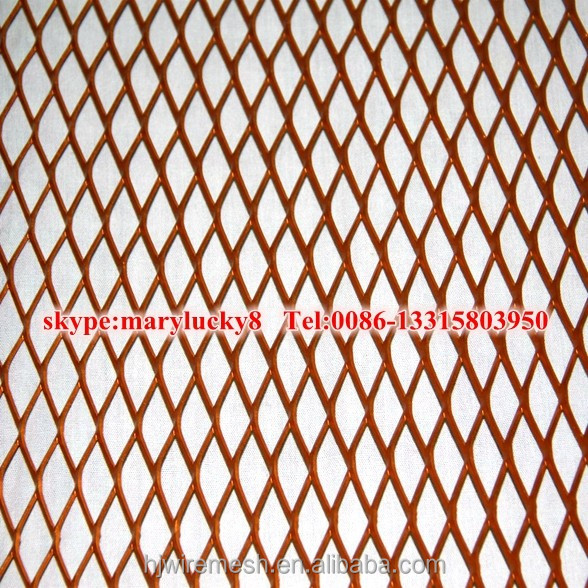 Anping Factory Copper sheet expanded metal <strong>mesh</strong>/Red copper expanded metal rolls