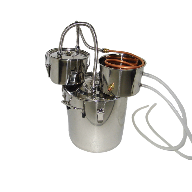 Spirits distiller 3 pots 18L/5Gal whiskey still stainless boiler stainless thumper keg