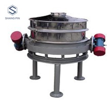 Single layer circle direct discharge vibrating screen for starch