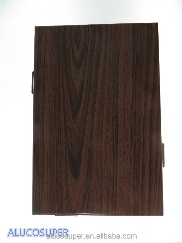 Wood grain coated solid aluminum sheet used for face of buliding