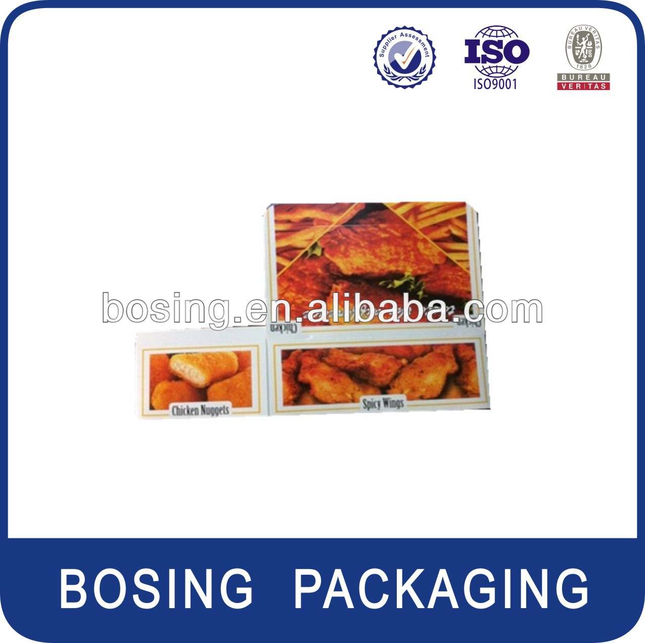 spicy wing paper box