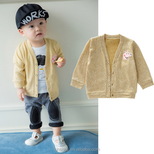 KS20598A 2017 New design baby cartoon striped knitted cardigan sweater wholesale