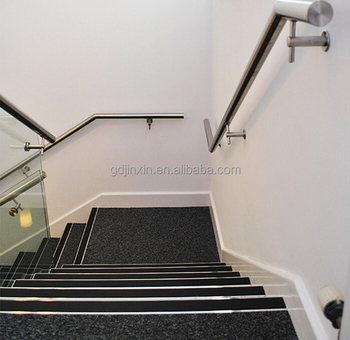 Stainless Steel Metal Wall Mounted Staircases Handrail