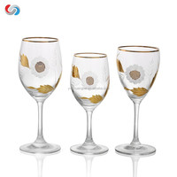 Beautiful Hand Painted Large Flower Wine Glasses -Unique Gifts For Women, Men, Wedding, Anniversary, Couples