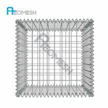 Factory supply Gabion Wall Containment Wire Stone Basket For Sale