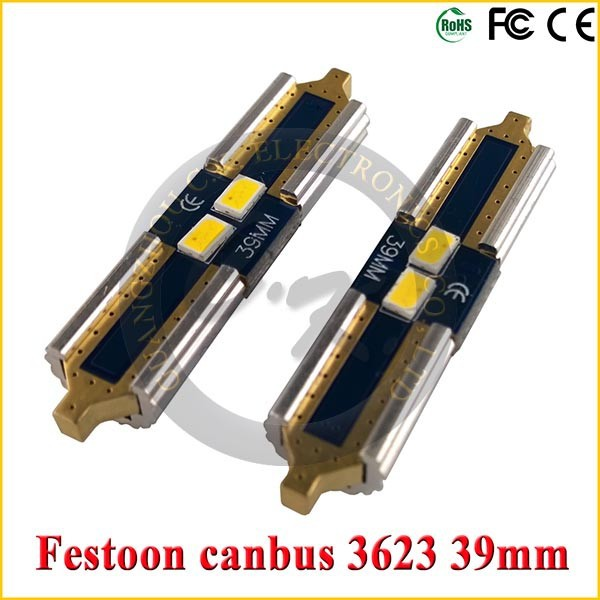 Bright 12v canbus led festoon bulb with 2smd 3623 31mm